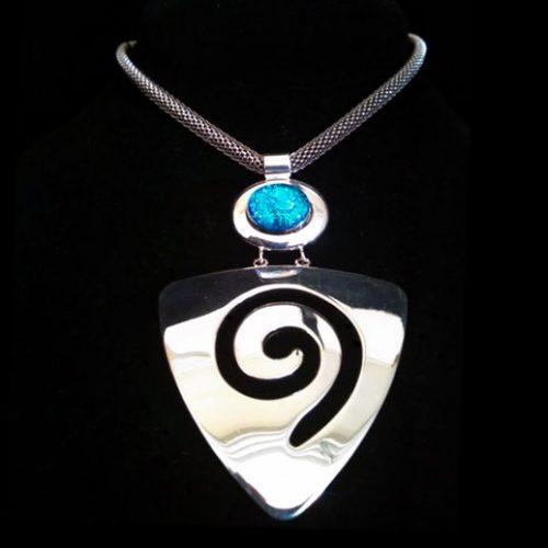 Blue Arrowhead Swirl