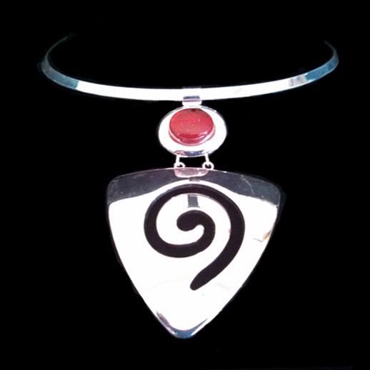 Red Arrowhead Swirl